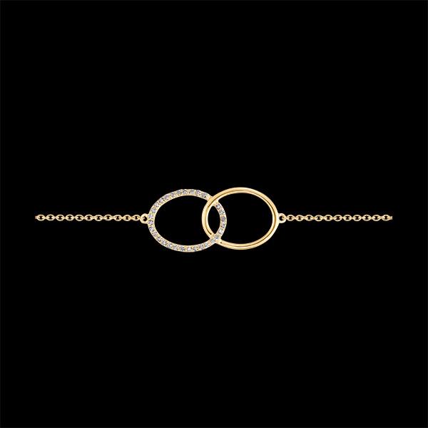 Bracelet Fraîcheur - Double Firmament - or jaune 9 carats et diamants