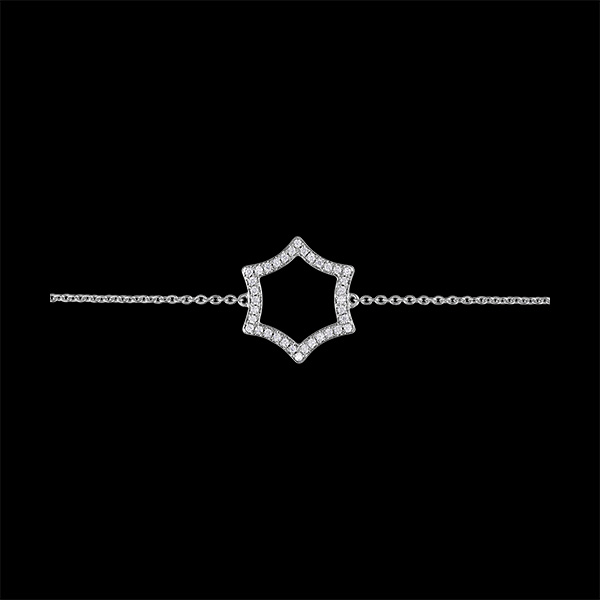 Bracelet Fraîcheur - Lux - or blanc 9 carats et diamants