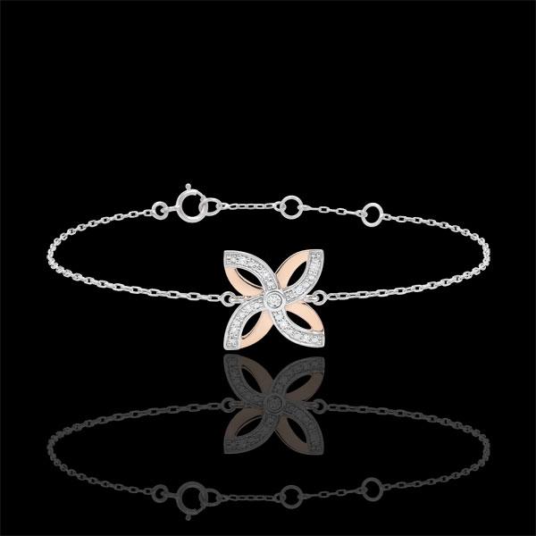 Bracelet Fraicheur - Lys d'Été - or blanc et or rose 9 carats