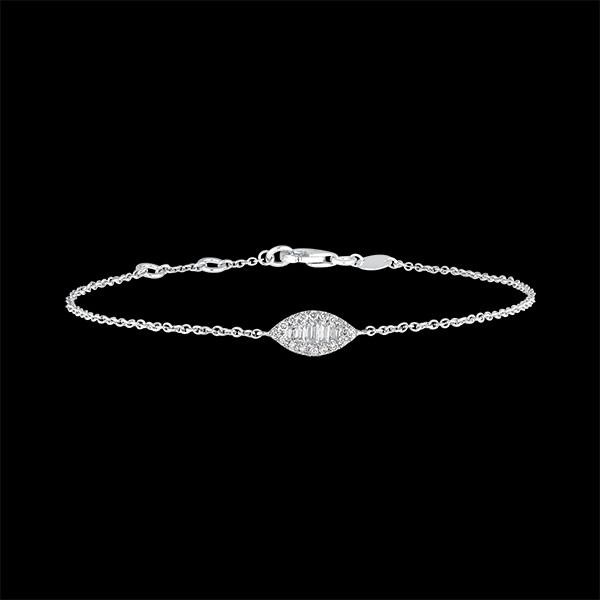 Bracelet Fraîcheur - Regard Levant - or blanc 9 carats et diamants