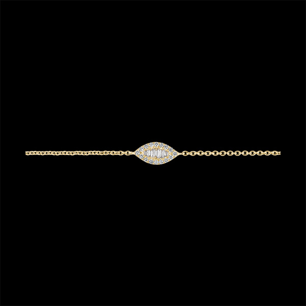 Bracelet Fraîcheur - Regard Levant - or jaune 18 carats et diamants
