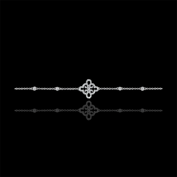 Bracelet Freshness- Flower - white gold 18 carats and diamonds