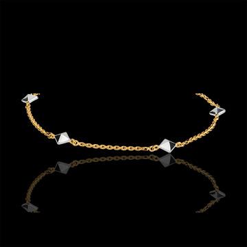 Bracelet Genesis - Rough diamonds bicolor - 9 carat