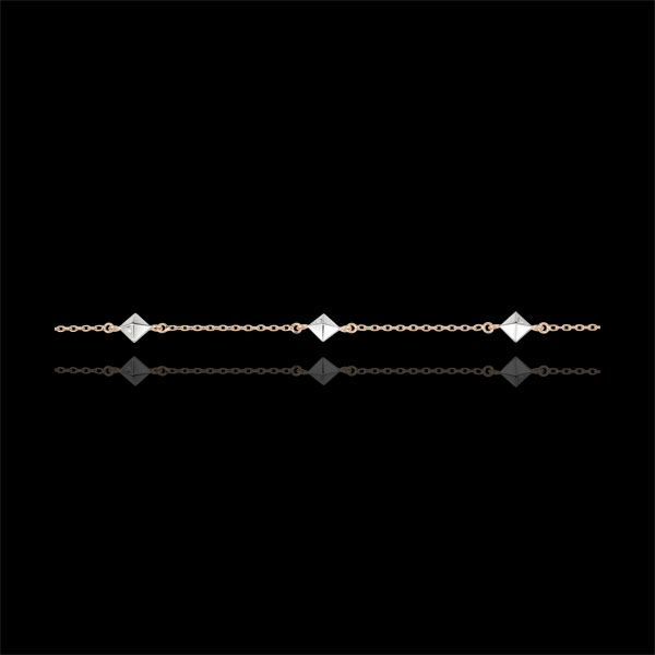Bracelet Genesis - Rough Diamonds - Rose Gold - 18 carat