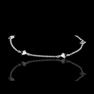 Bracelet Genesis - white gold - rough diamonds