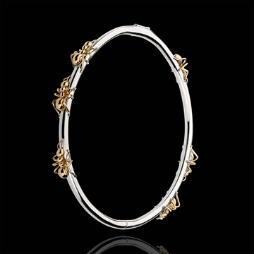 Bracelet Imaginary Walk - Dance of the Ants - white gold and rose gold
