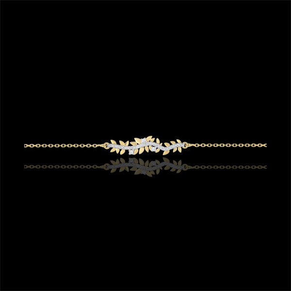 Bracelet Jardin Enchanté - Feuillage Royal - or jaune 18 carats et diamants