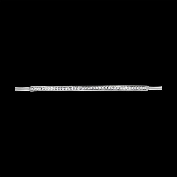 Bracelet Jonc Fraîcheur - Pléïade diamantée - or blanc 9 carats et diamants
