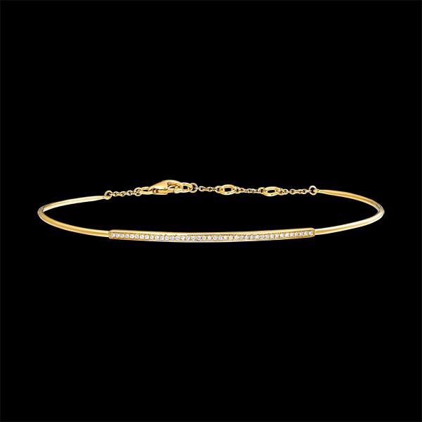 Bracelet Jonc Fraîcheur - Pléïade diamantée - or jaune 9 carats et diamants