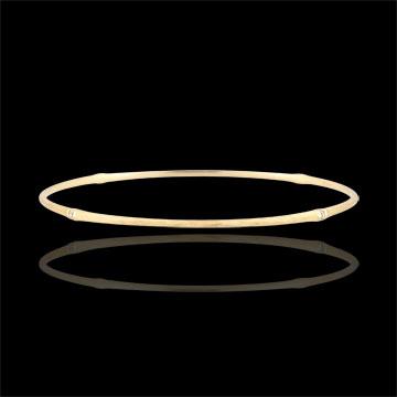 Bracelet Jonc Jungle Sacrée - diamants - or jaune brossé 9 carats