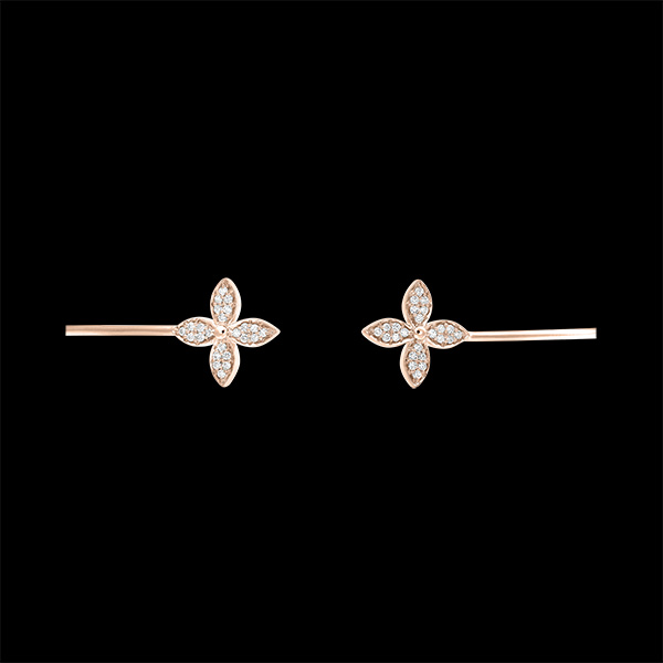 Bracelet Jonc Ouvert Éclosion - Double Chance - or rose 9 carats et diamants