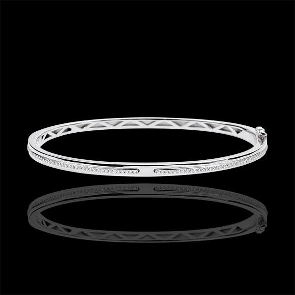 Bracelet Jonc Promesse - or blanc 18 carats et diamants
