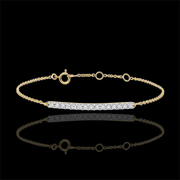 Bracelet or jaune 9 carats Scintillant - 15 diamants
