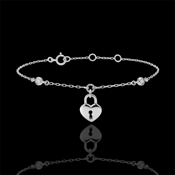 Bracelet Precious Secret - Heart - White Gold