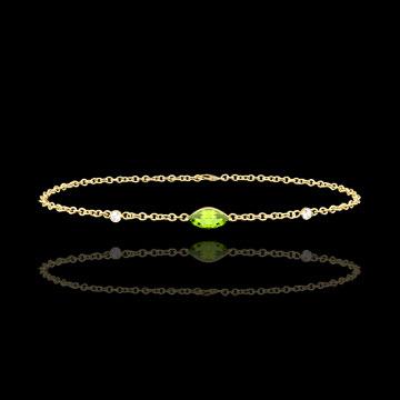 Bracelet Regard d'Orient - péridot et diamants - or blanc 9 carats