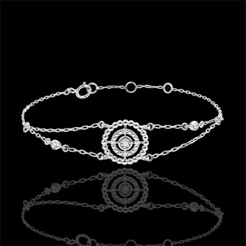 Bracelet Salty Flower - circle - white gold and diamonds