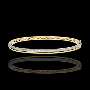 Bracelet Elegance - yellow gold, white gold and diamonds - 9 carats
