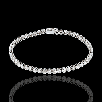 Boulier diamond bracelet-white gold - 2 carat - 52 diamonds