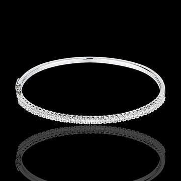 Bangle/Bracelet white gold semi-paved - 1 carat - 37 diamonds