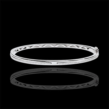Bangle Bracelet Promise - white gold and diamonds - 18 carats
