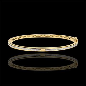 Bangle Bracelet Promise - yellow gold and diamonds - 9 carats
