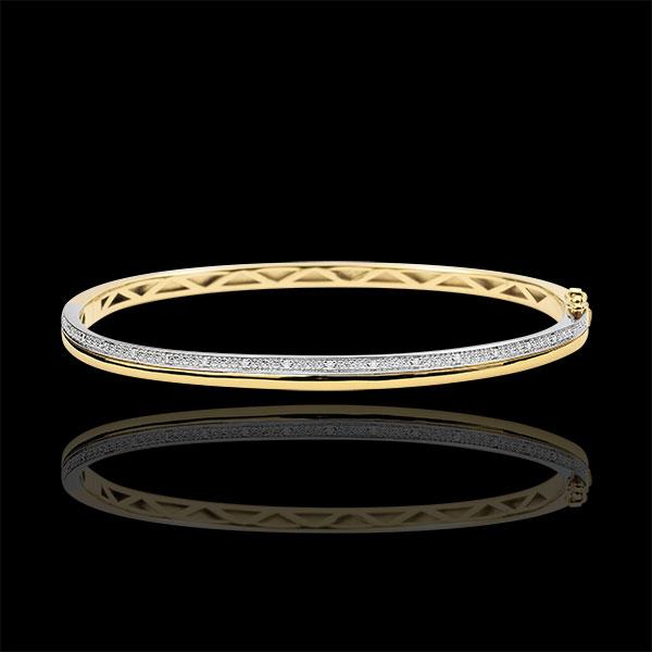 Bransoletka Elegancja z diamentami - złoto białe i złoto żółte 18-karatowe
