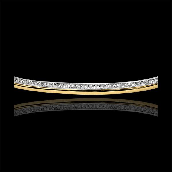 Bransoletka Elegancja z diamentami - złoto białe i złoto żółte 9-karatowe