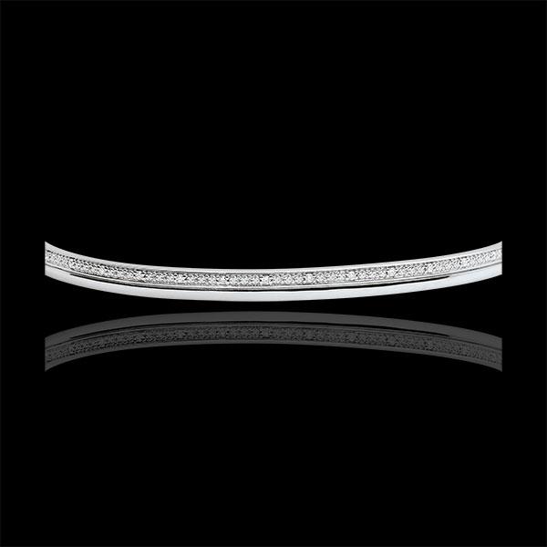 Bransoletka Elegancja - złoto białe 9-karatowe i diamenty