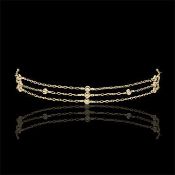 Bransoletka Gracja z żółtego złota 18-karatowego