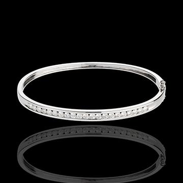 Bransoletka koło Konstelacja - Gwiazd - 1 rząd diamentów - 1,24 karata - 21 diamentów - złoto białe 18-karatowe