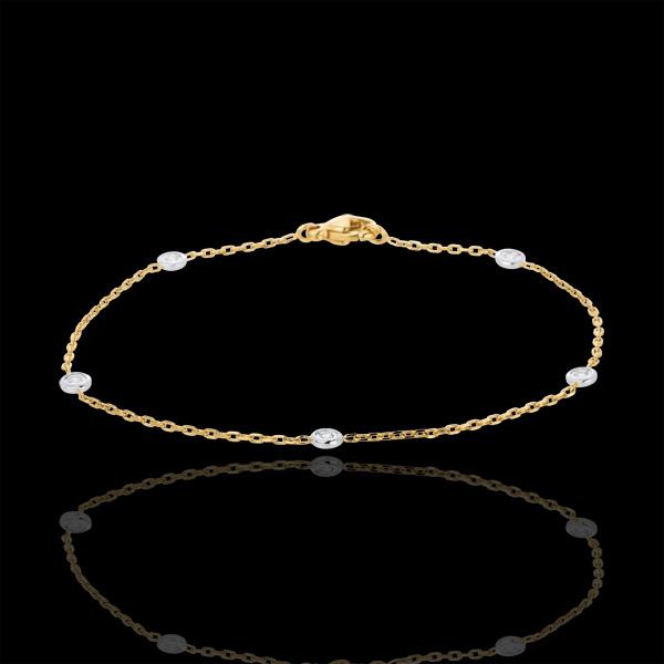 Bransoletka Konstelacja z dwóch rodzajów złota z diamentami - złoto białe i złoto żółte 18-karatowe