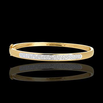 Bransoletka w kształcie koła Diorama z paskiem diamentów - 0,25 karata - 23 diamenty - złoto żółte 18-karatowe