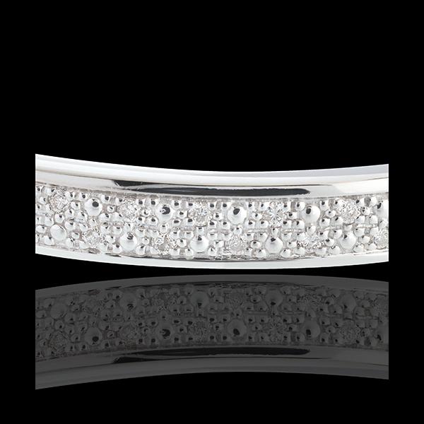 Bransoletka w kształcie koła Diorama z paskiem diamentów - złoto białe 18-karatowe - 0,25 karata - 23 diamenty