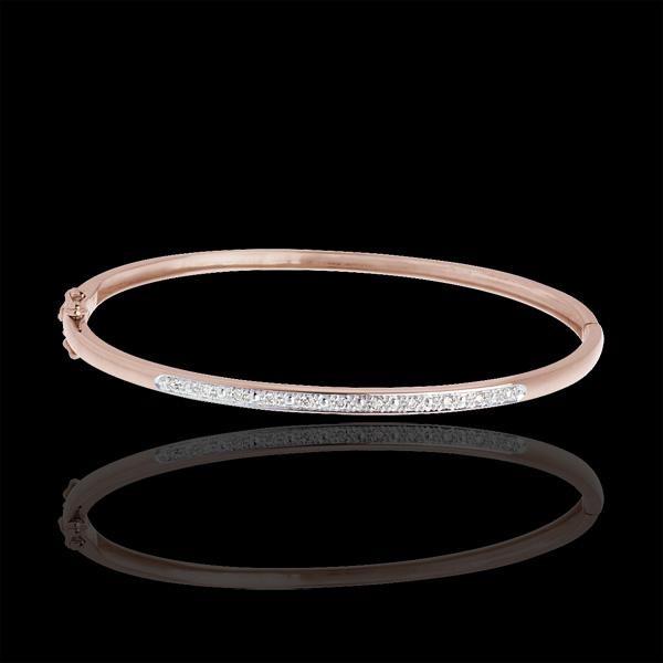 Bransoletka w kształcie koła Diorama z paskiem diamentów - złoto różowe 18-karatowe - 11 diamentów