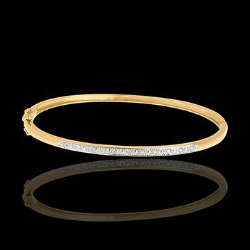 Bransoletka w kształcie koła Diorama z paskiem diamentów - złoto żółte 18-karatowe - 11 diamentów