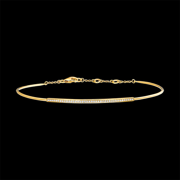 Bransoletka w kształcie koła Świeżość - Diamentowa plejada - 18 karatowe żółte złoto i diamenty