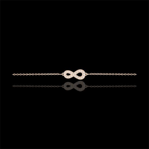Bransoletka Nieskończoność - złoto różowe 9-karatowe i diamenty