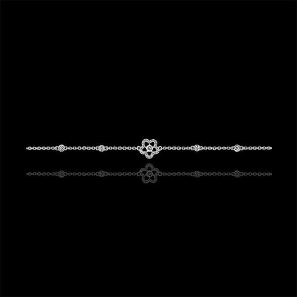 Bransoletka Rozkwit – Zawilec – białe złoto 18-karatowe z diamentami