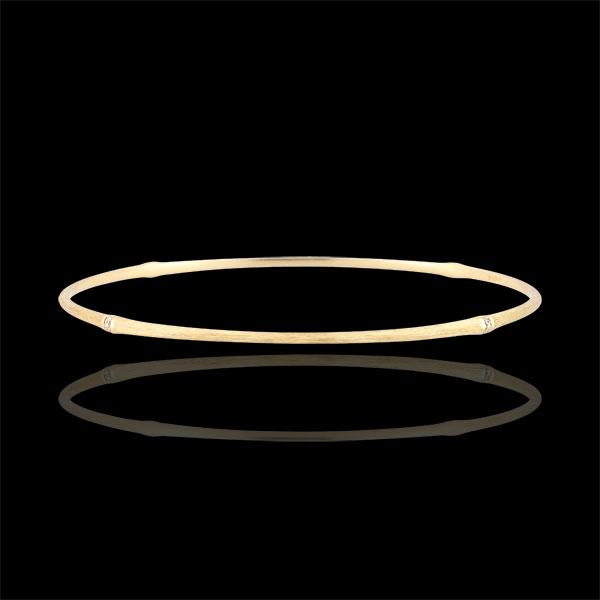 Bransoletka Święta Dżungla - diamenty - złoto żółte szczotkowane 9-karatowe