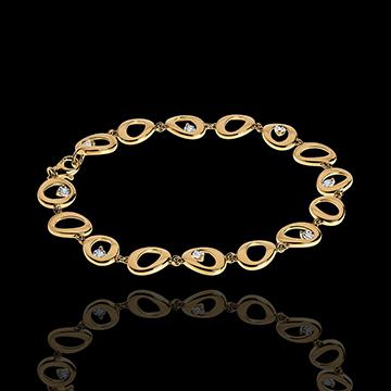 Bransoletka Wisiory z żółtego złota 18-karatowego z diamentami - 8 diamentów