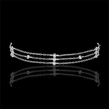 Brăţară aur alb de 18K Graţie - 13 diamante