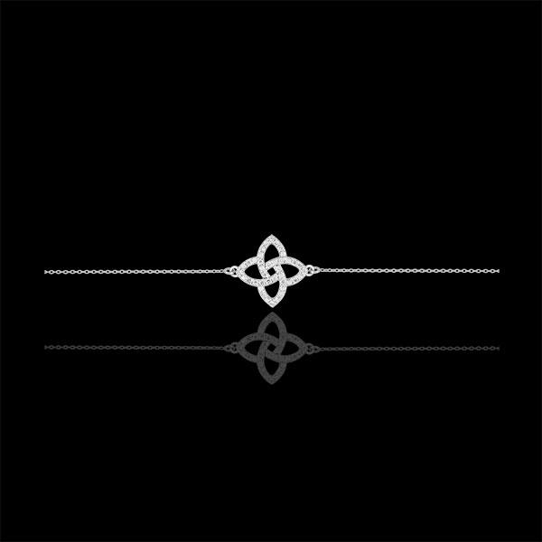 Brăţară aur alb de 9K şi diamante - Stea Prismă