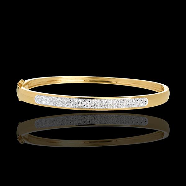 Brăţară fixă beretă diamante - 0.25 - 23 diamante - aur galben de 18K