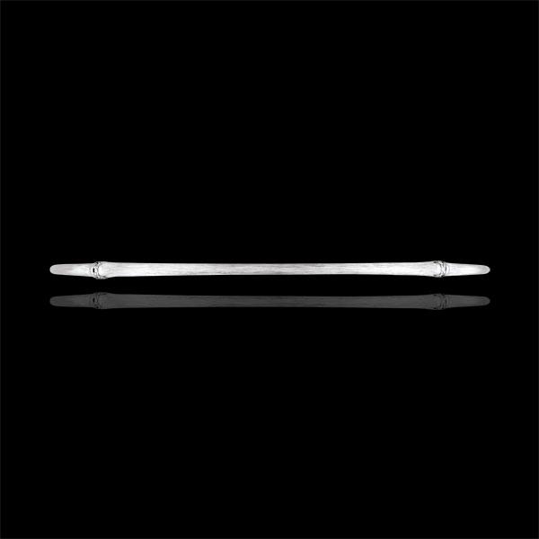 Brăţară fixă Junglă Sacră - diamante - aur alb de 9K cu lustru periat