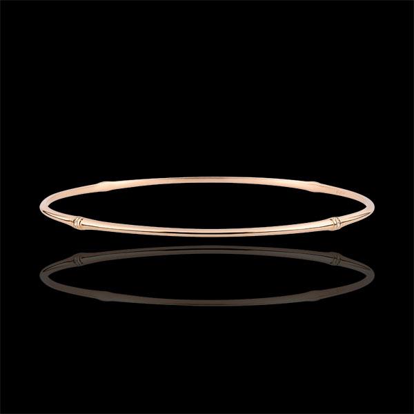 Brăţară fixă Junglă Sacră - diamante - aur roz de 9K