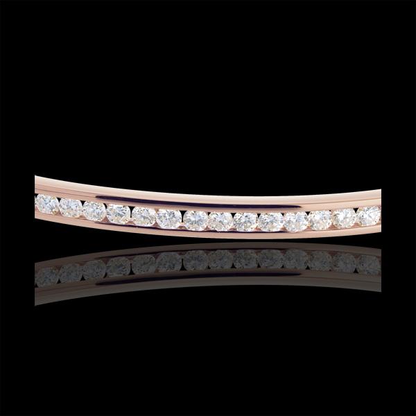 Brăţară fixă setare canal aur roz de 18K - 0.75 carate - 25 diamante