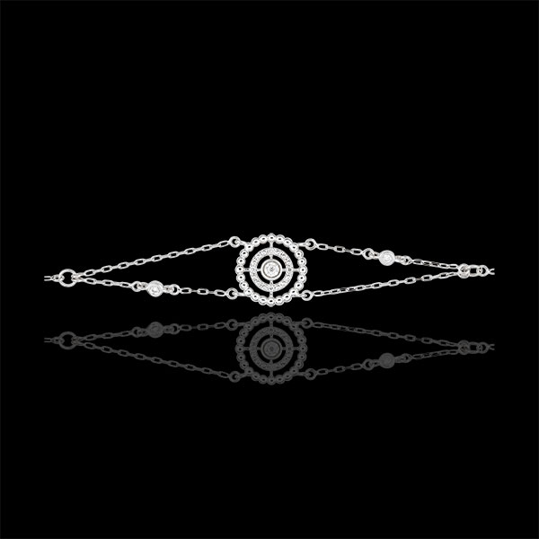 Brăţară Floare de Sare - cerc - aur alb de 9K şi diamante