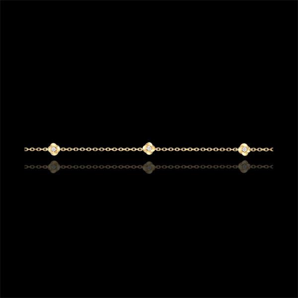 Brăţară Înflorire - Coroană de Trandafiri - diamante - aur galben de 9K