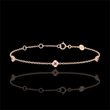 Brăţară Înflorire - Coroană de Trandafiri - rubin - aur roz de 9K