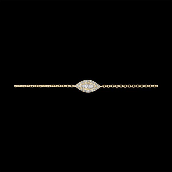 Brățară Prospețime – Ridicând Privirea - aur galben de 18 carate și diamante